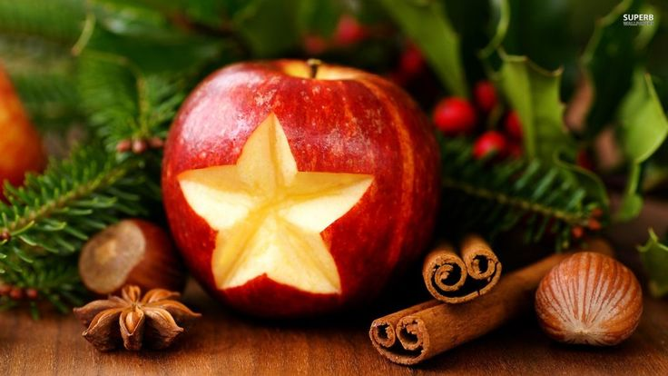 interior apple christmas decor with carved star garnish pictures of christmas decorations