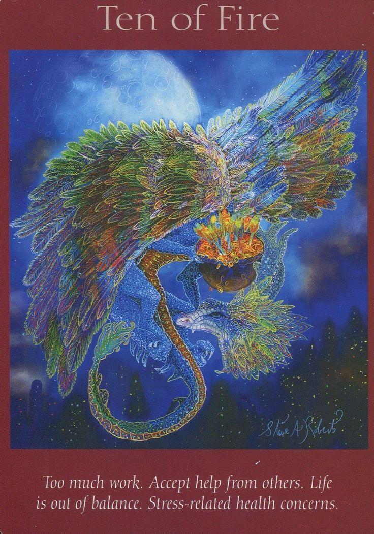 Angel Tarot Card - Ten Of Fire