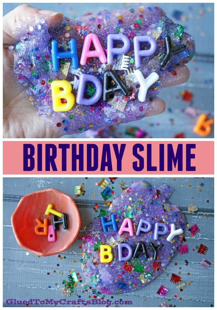 Sparkly Birthday Slime Recipe Family Fun Activities Kid Craft