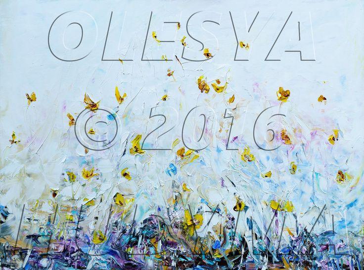 """""""Квіти біля моря/Flowers by the Sea"""" - УКРАЇНСЬКЕ СУЧАСНЕ МИСТЕЦТВО/MODERN UKRAINIAN ART by Olesya HUDYMA."""