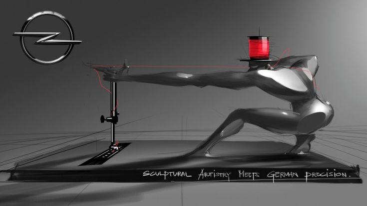 Opel buff guy sewing machine
