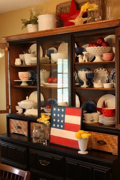 Labor Day decor... easily created using items from Goodwill!