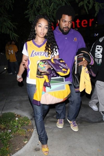 Ice Cube & Wife... oh so I add this one cause I LOVE the LAKERS