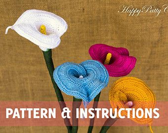 Crochet Plumeria Pattern and Instructions by HappyPattyCrochet