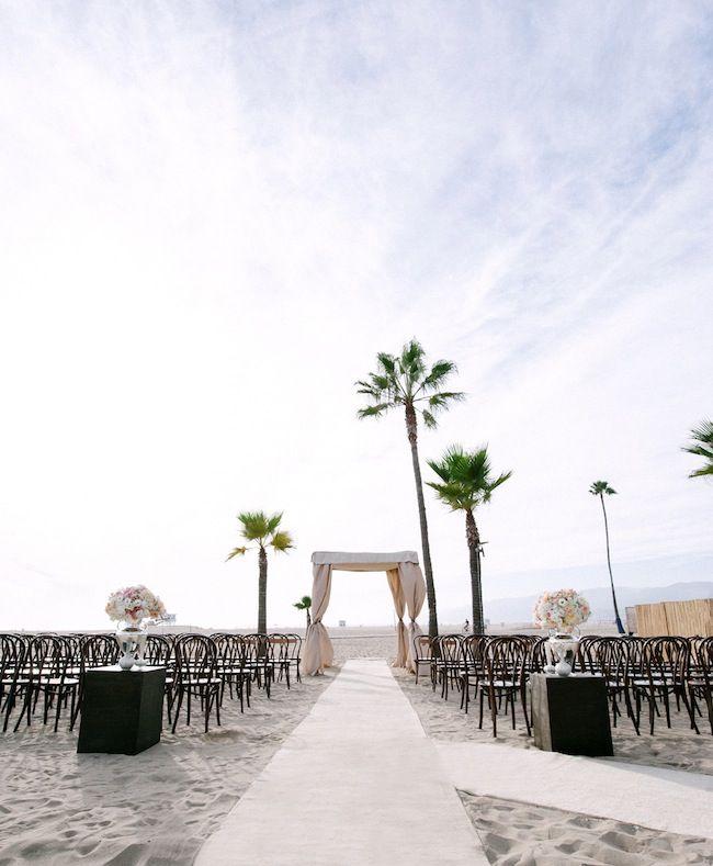 beach weddings in orange county ca%0A Glamorous beach side wedding in Santa Monica Photo by Yvette Roman  Photography