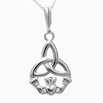 my necklace from Galway - claddagh + trinity knot - would definitely get this as a small tattoo <3