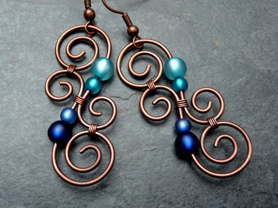 Earrings  LUMINATE  BLUE and TURQUOISE   New by ArohaJewelz, €19.00