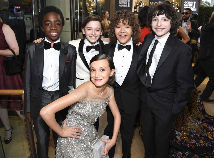 Stranger Things Cast from 2017 Golden Globes: Candid Moments
