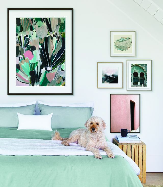 Art Trends: Decorating your walls with unique color combinations like poppy Pink and laid back Teal.