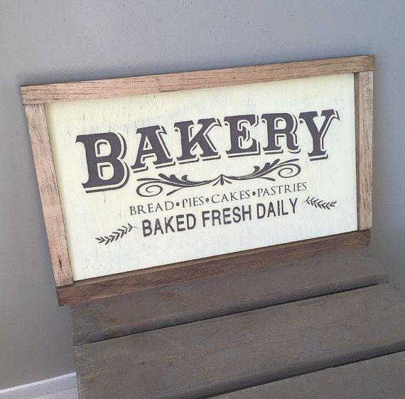 Bakery Sign farmhouse kitchen decor by TheAmericanFarmhouse