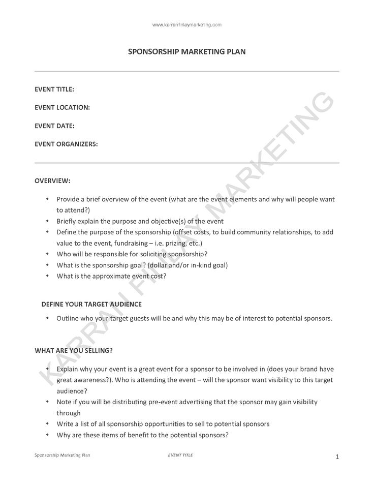 Marketing Proposal Sample Format