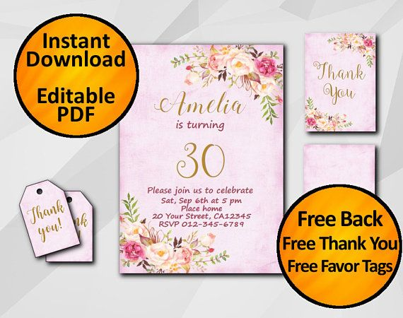 30th Birthday Invitation by Digi Invites https://www.etsy.com/shop/DigiInvites/ Any Age Birthday Invitation - 1st 2nd 13th 16th 18th 21st 30th 50th 70th #Watercolor Pink/Fuc... #watercolor ➡️ https://www.etsy.com/digiinvites/listing/522265005/30th-birthday-invitation-gold-fuchsia?utm_campaign=products&utm_content=476efeba537a4a72900541dbe9757d7a&utm_medium=pinterest&utm_source=sellertools