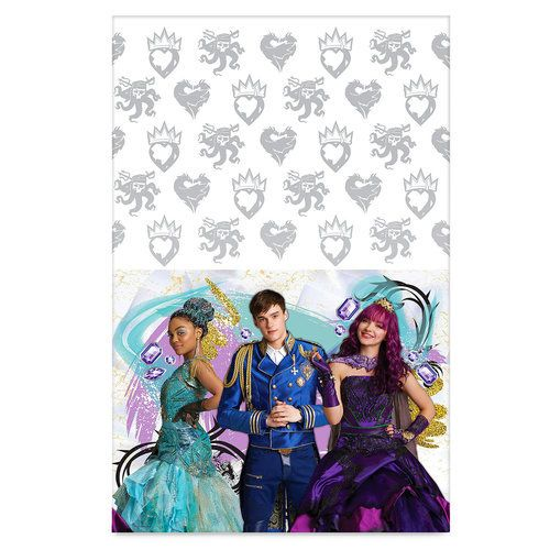 Dress up your party table with this Descendants 2 cover. The stars of the new flim will bring a glamorous presence to any affair on this reusable plastic cover that's easy to clean.