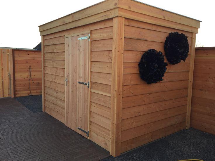 Tuinhuis op maat gemaakt van douglas hout www.vanviegen.com