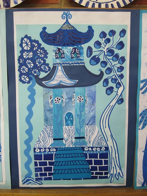 Wow....amazing blue Asian value lesson. School Art Show 2012 « thornberry
