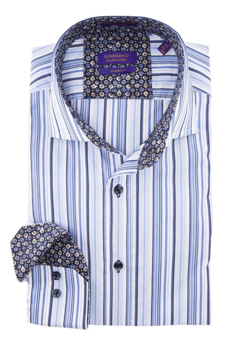 Nieuw bij Shirtupplier.nl: Giordano un limited blauw gestreept heren overhemd met bloemenprint https://www.shirtsupplier.nl/nl/overhemden/giordano-un-limited-blauw-gestreept-heren-overhemd-met-bloemenprint