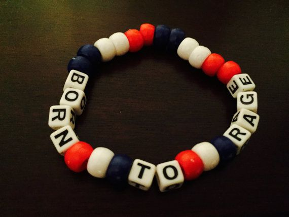 Born to Rage Dada Life Kandi Bracelet by KandilandUSA on Etsy