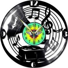 Horloge vinyle décoration gramophone