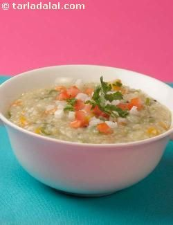 If you're bored of the regular breakfast dishes, try this new healthy recipe made using jowar. Jowar is a nutritious cereal with plenty of protein, iron and fibre. The curds and vegetables  improve its vitamin A and calcium levels.  This vegetable porridge accompanied by a fruit is sure to keep you satiated till lunch and prevent you from bingeing on unhealthy mid-morning snacks like biscuits, nuts,chips etc.