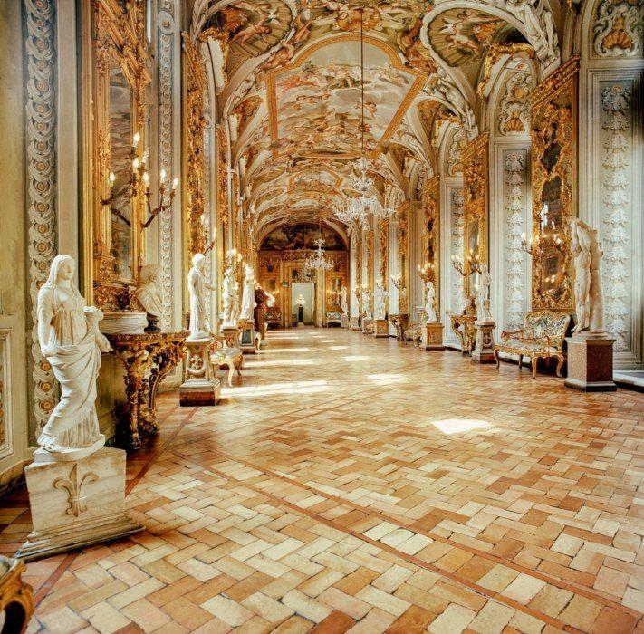Inside the Palazzo Doria Pamphilj in Rome