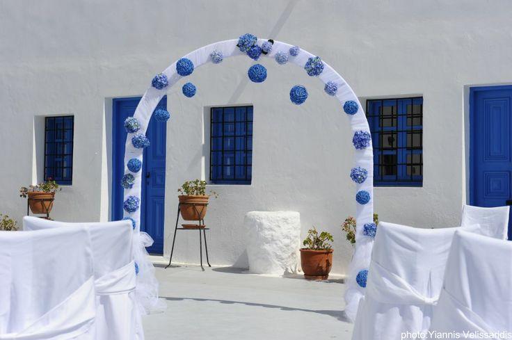 Modern floral arch!