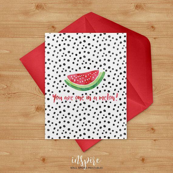 You are one in a melon watercolor watermelon von SoulSparksInspire
