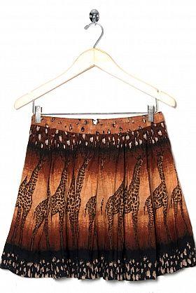Giraffe print skirt!