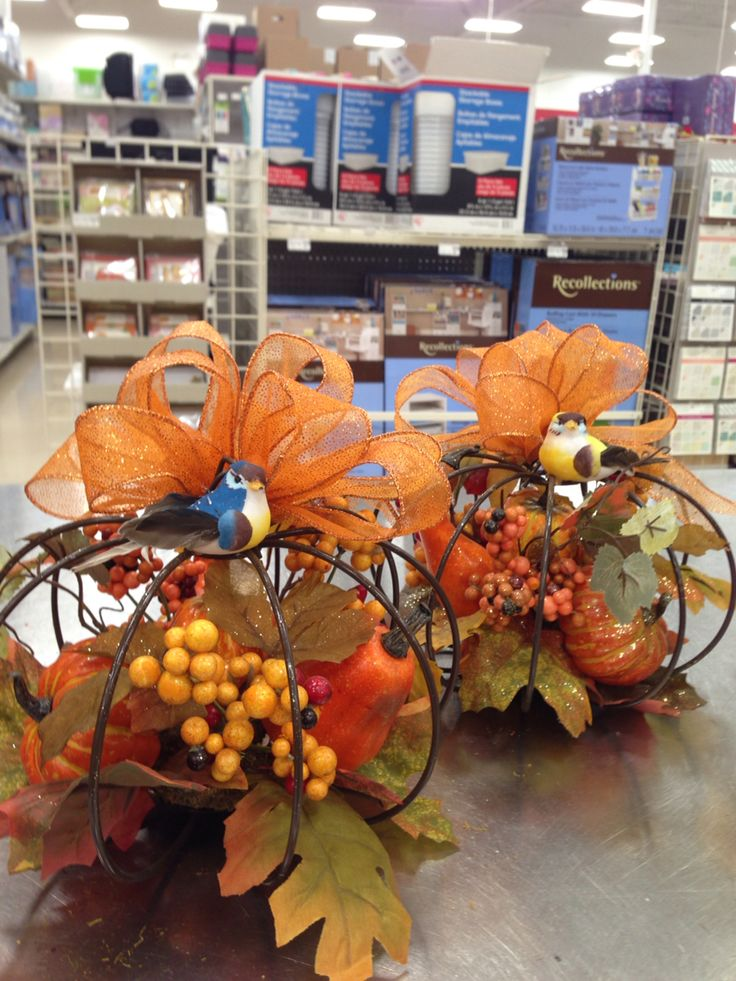 Fall wire pumpkins, quick. Laura A. Tulsa Michaels (3864 ...