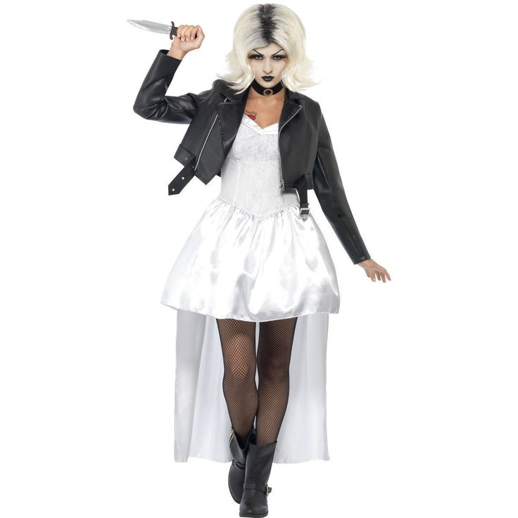 New adult #bride of #chucky costume #ladies womens 80s halloween fancy dress outf,  View more on the LINK: 	http://www.zeppy.io/product/gb/2/131889471117/