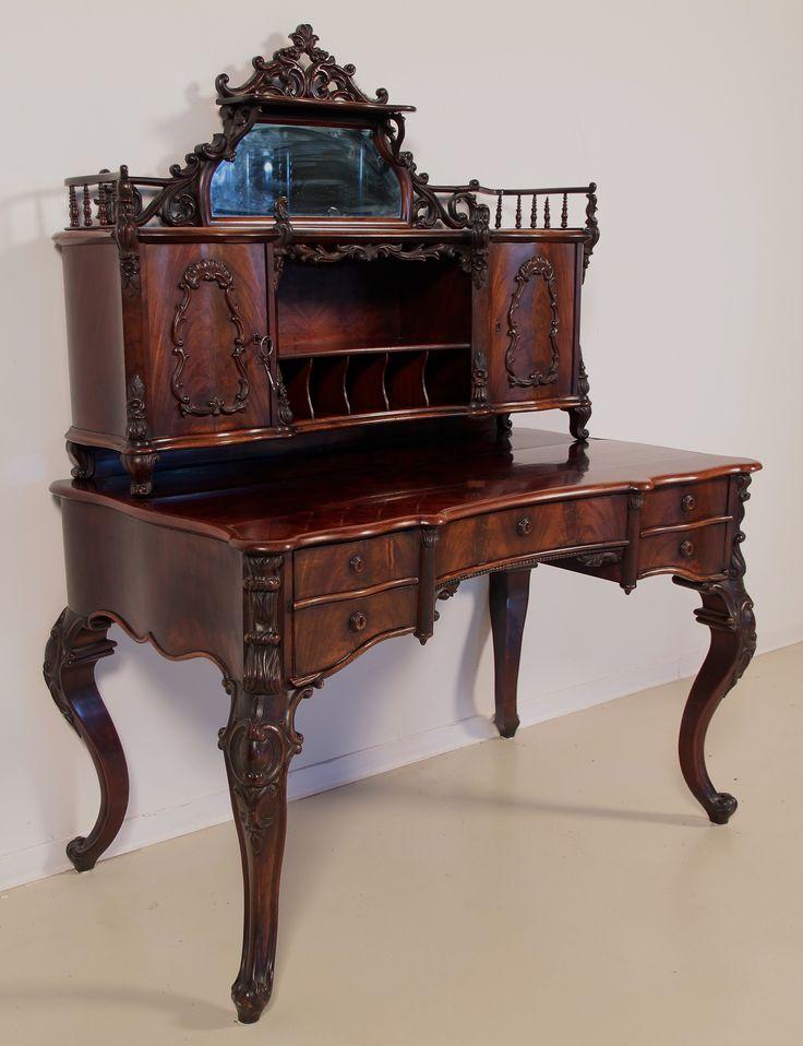 42 besten antike schreibtische bilder auf pinterest schreibtische nussbaum und restaurieren. Black Bedroom Furniture Sets. Home Design Ideas