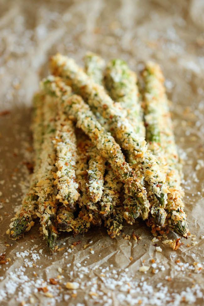Baked Asparagus Fries #recipe #sidedish #vegetarian