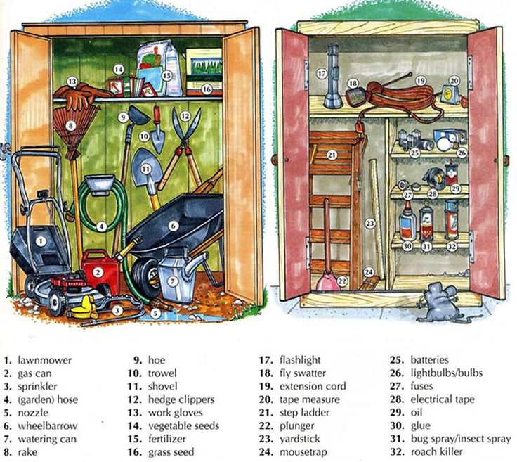 189 best vocabulary charts for Gardening tools vocabulary