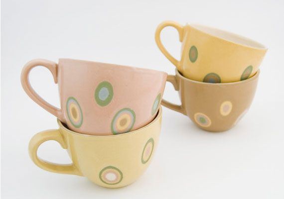 cool coffee cups by Irmina Helak | etsy.com
