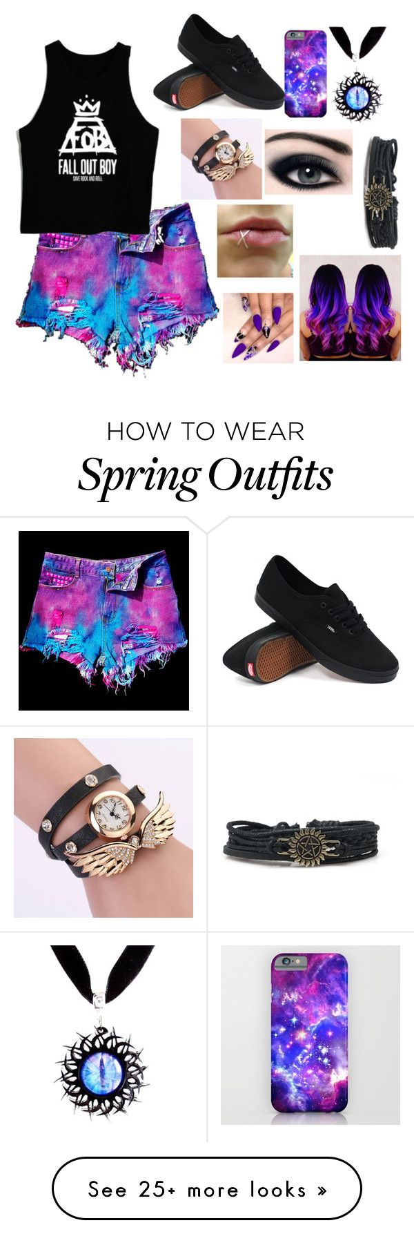 """Spring outfit #2"" by dauntless29 on Polyvore featuring WithChic and Vans"