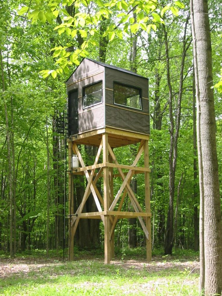 Diy hunting cabin plans woodworking projects plans for Diy deer stand plans