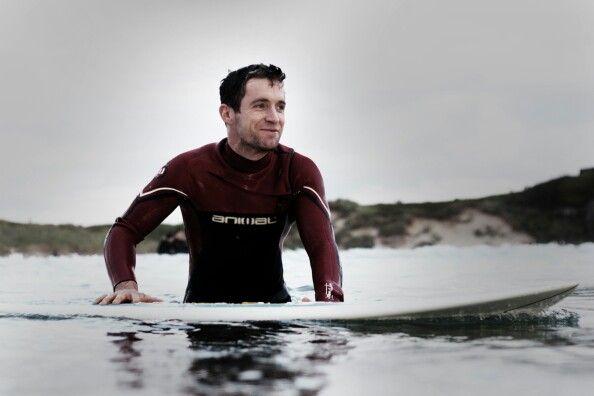 Donal surfing at Tullan