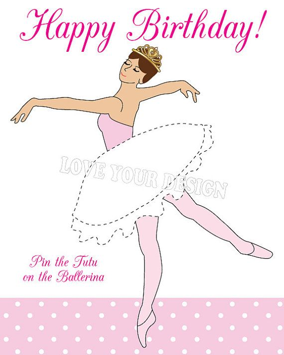 Pin the Tutu on the Ballerina Game INSTANT by LoveYourDesign