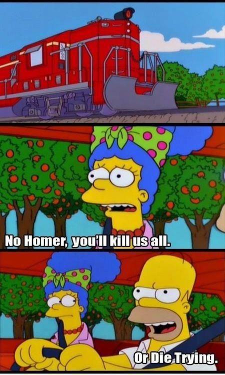 Marge:No Homero nos mataras a todos  Homero: o moriremos en el intento