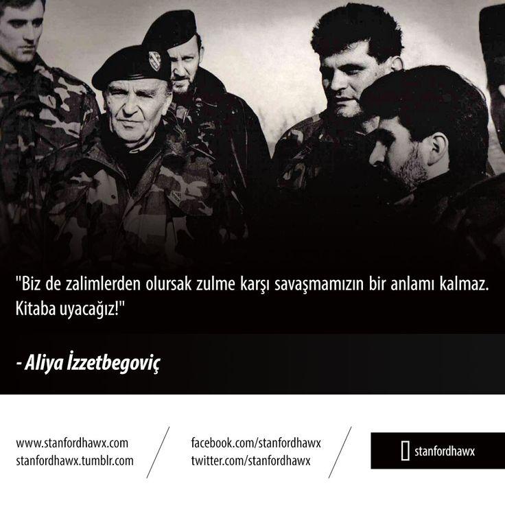 """""""Biz de zalimlerden olursak zulme karşı savaşmamızın bir anlamı kalmaz. Kitaba uyacağız!"""" - Aliya İzzetbegoviç #soz #zalim #zulum #kitap #book"""
