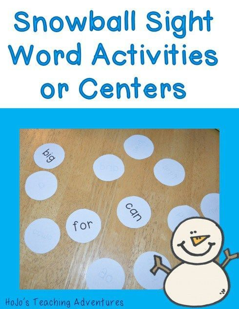 Winter Sight Word Centers & Activities for preschool, Kindergarten, and 1st Grade students - These are the perfect activity to keep young learners engaged in meaningful work during those snowy, winter days! It's a fun game of BAM, words for your word wall, or a great center activity. Click through to pick up your FREE copy today!