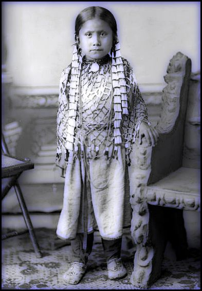 Una fotografía de la hija de Toro Sentado .