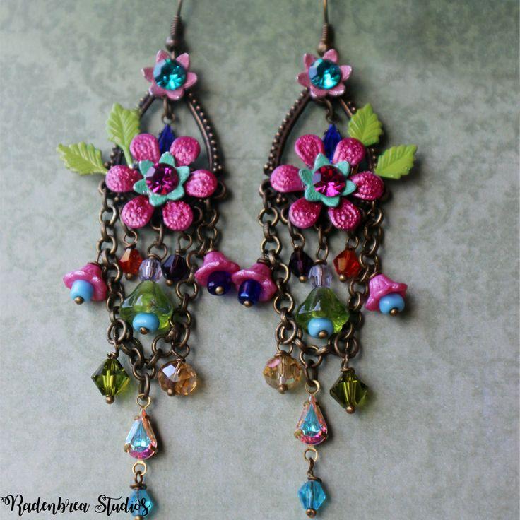 Spring Fantasy Earrings #jewellery #earrings #handmade