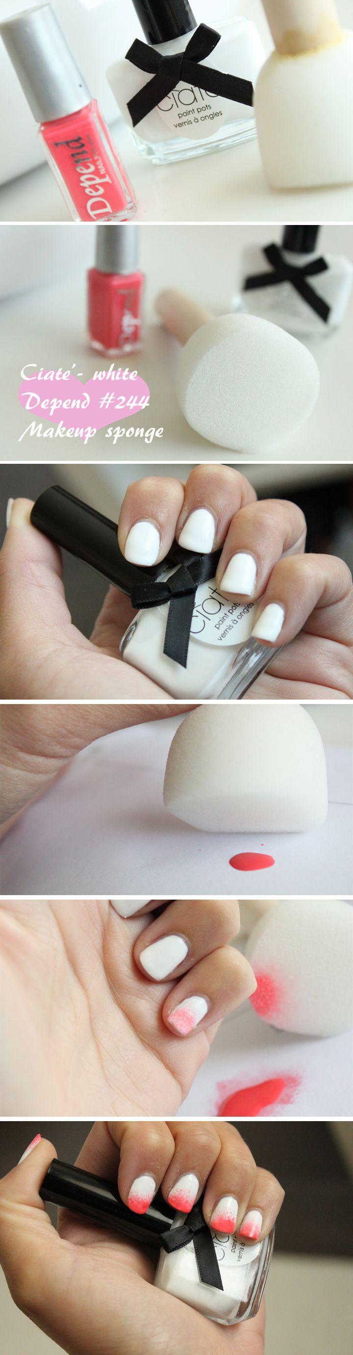 Dip Dye Nail tutorial. Full tutorial on http://blogg.veckorevyn.com/hiilen/2012/06/21/dip-dye-nail-tutorial-video-och-bild-tutorial/#