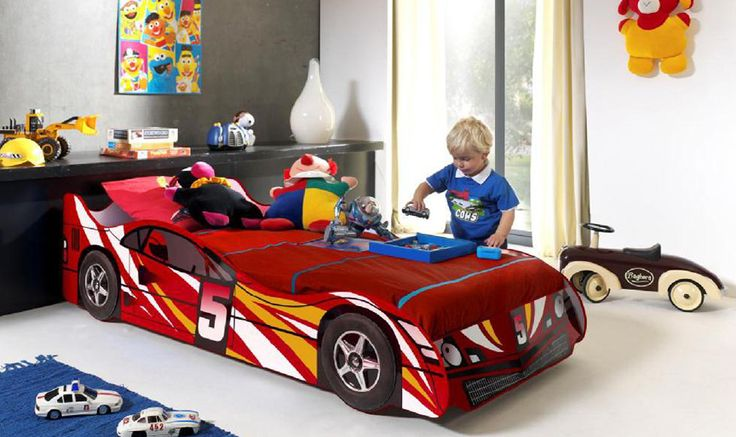 No 5 Car Bed. Great first car bed. Available in red or blue.