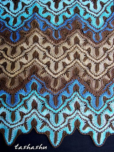 Ravelry: Knitted Scarf Koh Samui pattern by Svetlana Gordon