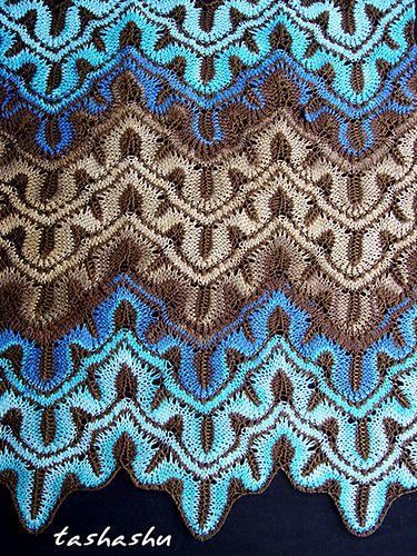 Ravelry: Вязаный шарф Самуи картины Светланы Гордон