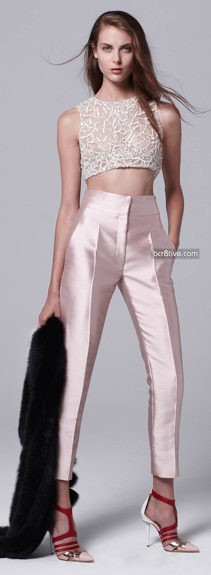 J.Mendel Resort 2014 pants and shoes for bridesmaids.. different top