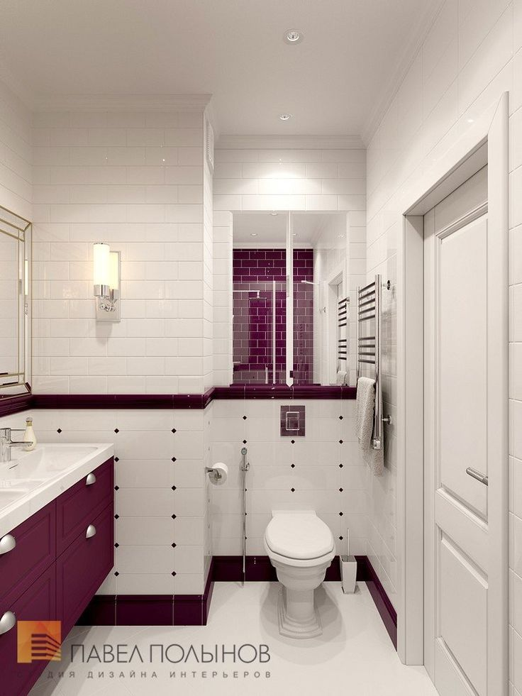 Фото дизайн интерьера санузла из проекта «Дизайн квартиры в жилом комплексе «ММДЦ Москва Сити», американская классика, 120 кв.м.»
