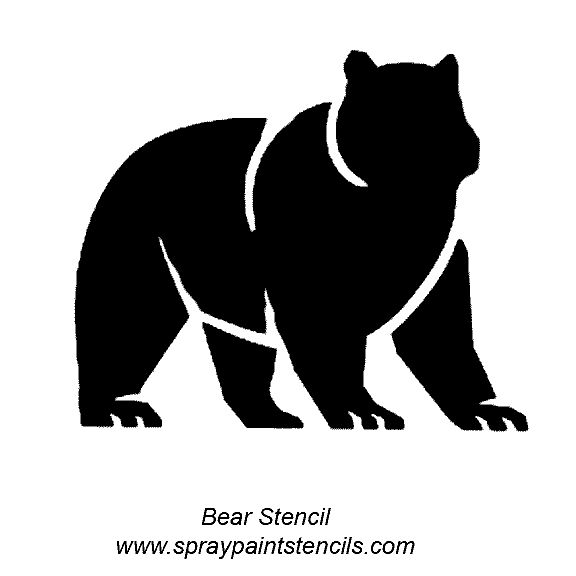 Simple Spray Paint Stencils Part - 20: Spray Paint Stencils | Bear Claw Stencil Printable