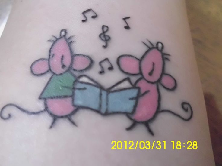 Tattoo - mice singing